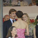 Beatriz Borromeo, Carlota y Pierre Casiraghi en el Concurso Hípico de Monte-Carlo