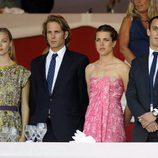 Beatriz Borromeo, Andrea y Carlota Casiraghi y Alex Dellal en Monte-Carlo