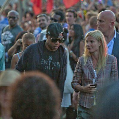 Jay-Z y Gwyneth Paltrow en el Festival de Glastonbury