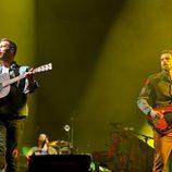 La banda Coldplay en el Festival de Glastonbury