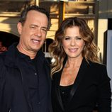 Tom Hanks y Rita Wilson en el estreno de 'Larry Crowne'