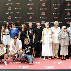 La familia Bardem en el Paseo de la Fama de Madrid