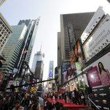 Vista del ambiente en la premiere de Transformers 3 en Nueva York