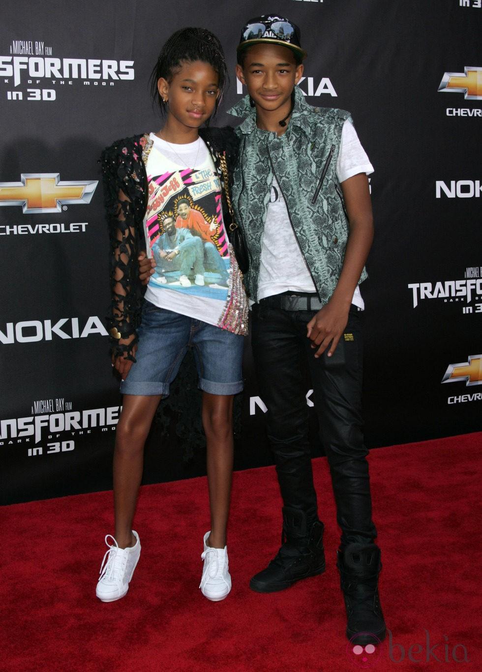 Willow y Jaden Smith en la premiere en Nueva York de Transformers 3