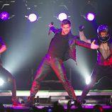 Ricky Martin en un momento de su actuación en Madrid