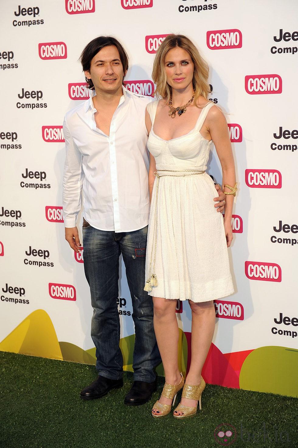 Alberto Caballero y Vanesa Romero en los Premios Pétalo de Rosa de Cosmopolitan