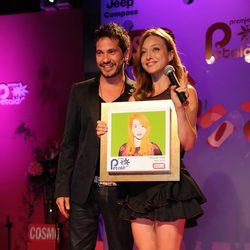 David de María y Russian Red en los Premios Pétalo de Rosa de Cosmopolitan