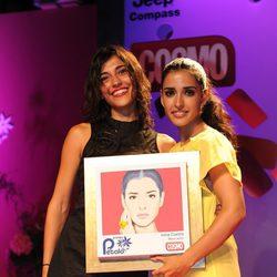 Verónika Moral e Inma Cuesta en los Premios Pétalo de Rosa de Cosmopolitan