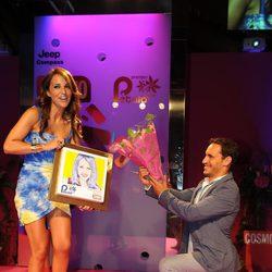 Paula Echevarría y Ricard Sales en los Premios Pétalo de Rosa de Cosmopolitan