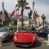 La Plaza del Casino de Monte-Carlo adornada para la boda de Alberto de Mónaco