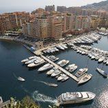 Vista del Puerto de Mónaco días antes de la boda de Alberto y Charlene