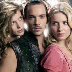 Jonathan Rhys Meyers, Anabelle Wallis y Tamzin Merchant en 'Los Tudor'