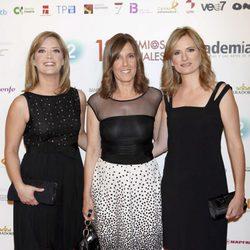 María Casado, Ana Blanco y Ana Roldán en los Premios de la ATV