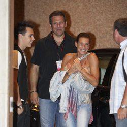 Estefanía de Mónaco en la despedida de soltero de Alberto y Charlene