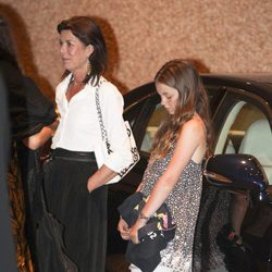 Carolina de Mónaco y Alexandra de Hannover en la despedida de soltero de Alberto y Charlene