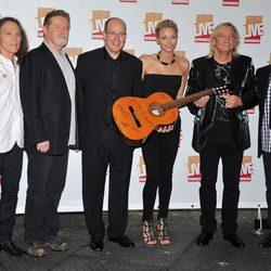 Alberto de Mónaco y Charlene Wittstock con 'The Eagles'