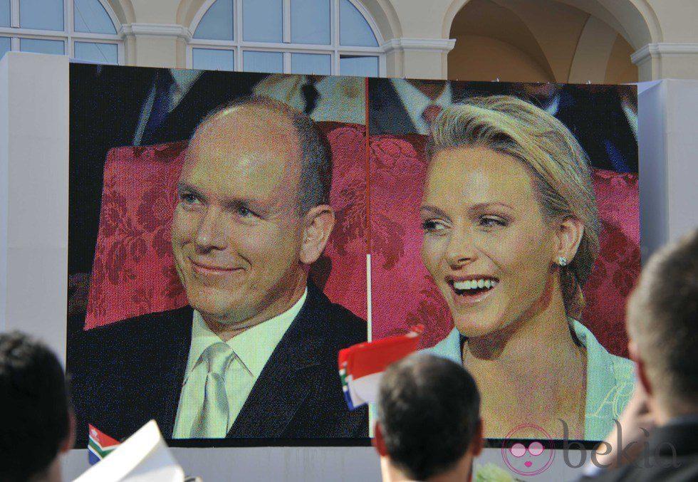 Retransmisión del enlace civil entre Alberto de Mónaco y Charlene Wittstock
