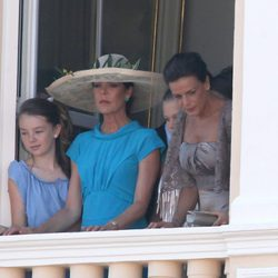 Las Princesas Alexandra, Carolina y Estefanía tras la boda civil de Alberto de Mónaco