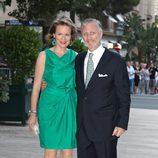 Los príncipes Felipe y Matilde de Bélgica en la fiesta posterior a la boda de Alberto de Mónaco y Charlene Wittstock