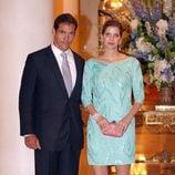 Luis Alfonso de Borbón y Margarita Vargas en la fiesta de la boda de Alberto de Mónaco