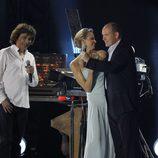 Alberto de Mónaco y Charlene Wittstock en el concierto de Jean-Michel Jarre