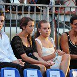 Estefanía de Mónaco y sus hijos en la fiesta tras la boda de Alberto II y Charlene Wittstock