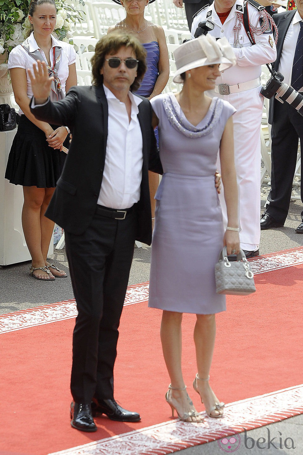 Jean Michel Jarre a su llegada a la boda religiosa de Alberto y Charlene