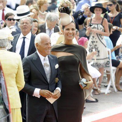 Giorgio Armani en la boda religiosa de Alberto y Charlene