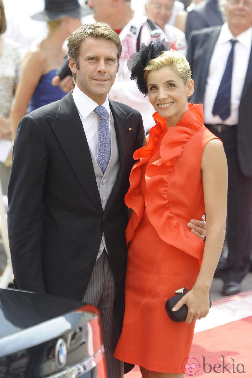 Filiberto de Saboya y Clotilde Courau en la boda de Alberto y Charlene
