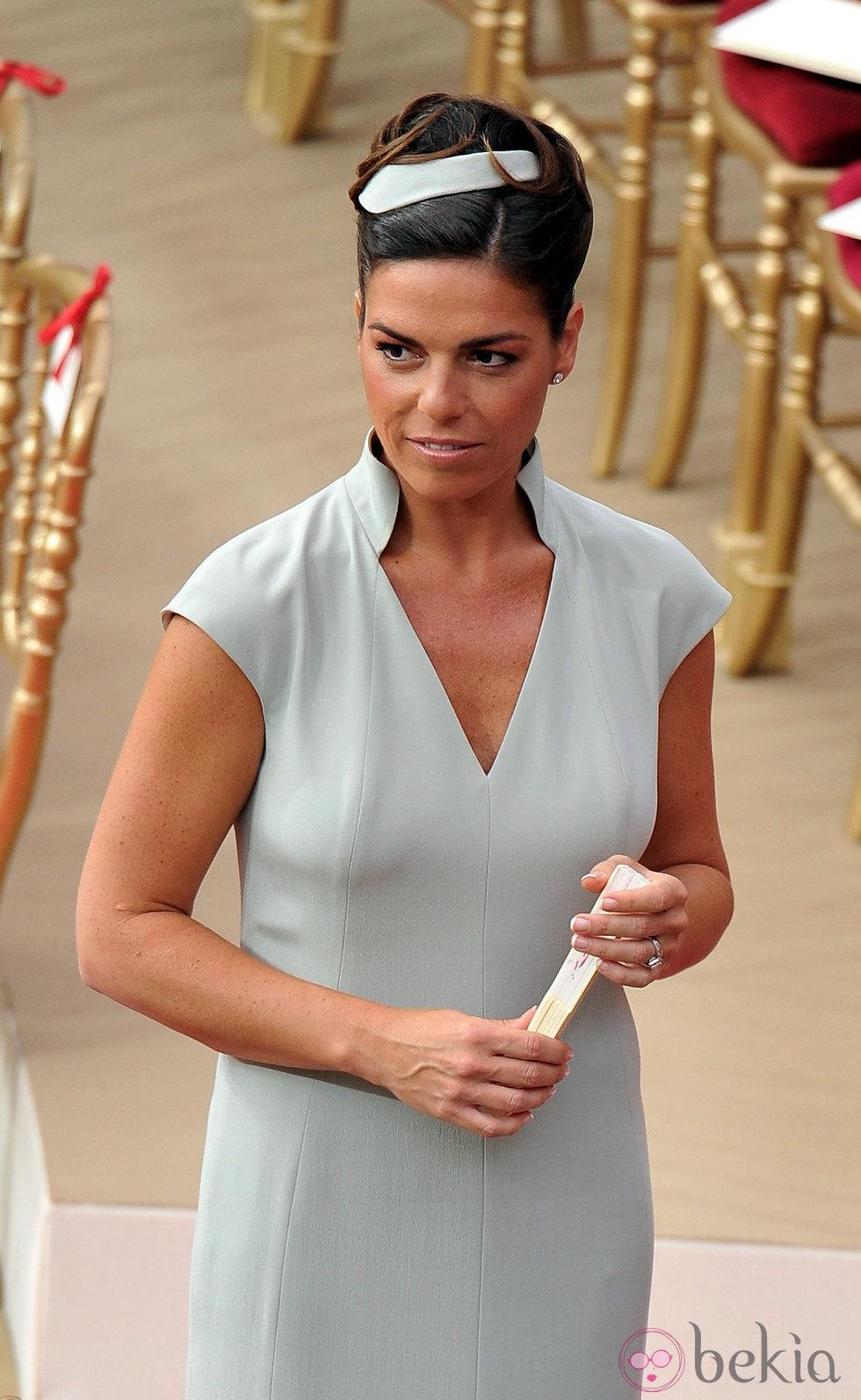 Donatella Knecht de Massy en la boda religiosa de Alberto y Charlene de Mónaco