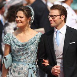 Victoria y Daniel de Suecia en la boda de Alberto y Charlene