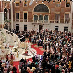 Interior de la boda real religiosa de Alberto de Mónaco y Charlene Wittstock