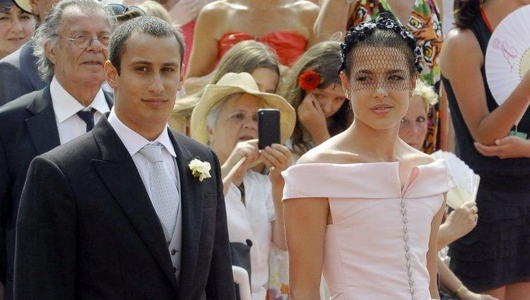 Carlota Casiraghi y Alex Dellal en la boda de Alberto y Charlene
