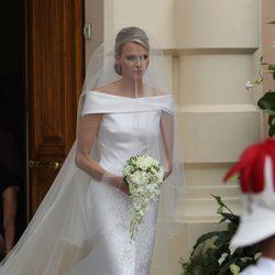El vestido de novia de Charlene Wittstock: un Armani