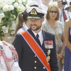 Haakon de Noruega en la boda de Alberto y Charlene de Mónaco