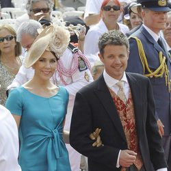 Federico y Mary de Dinamarca en la boda de Alberto y Charlene