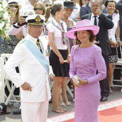 Los Reyes de Suecia en la boda de Alberto y Charlene de Mónaco