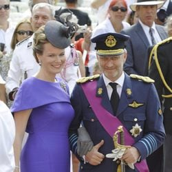 Felipe y Matilde de Bélgica en la boda de Alberto de Mónaco