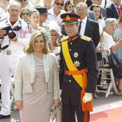 Los Grandes Duques de Luxemburgo en la boda de Alberto de Mónaco