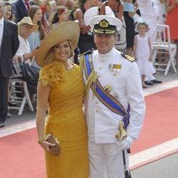 Guillermo y Máxima de Holanda en la boda de Alberto de Mónaco