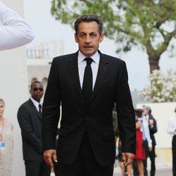 Nicolas Sarkozy en la boda religiosa de Alberto de Mónaco
