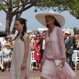 Carolina de Mónaco y Alexandra de Hannover en la boda de Alberto y Charlene