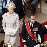 Haakon y Mette Marit de Noruega en la boda de Alberto y Charlene