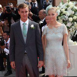 Pierre Casiraghi y Beatriz Borromeo en la boda de Alberto de Mónaco