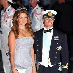 Magdalena y Carlos Felipe de Suecia en la cena de gala de la boda real de Alberto y Charlene
