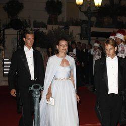 Pierre, Carlota y Andrea Casiraghi en la cena de gala en Mónaco