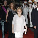 Bernadette Chirac en la cena de gala en la Opera Garnier de Mónaco