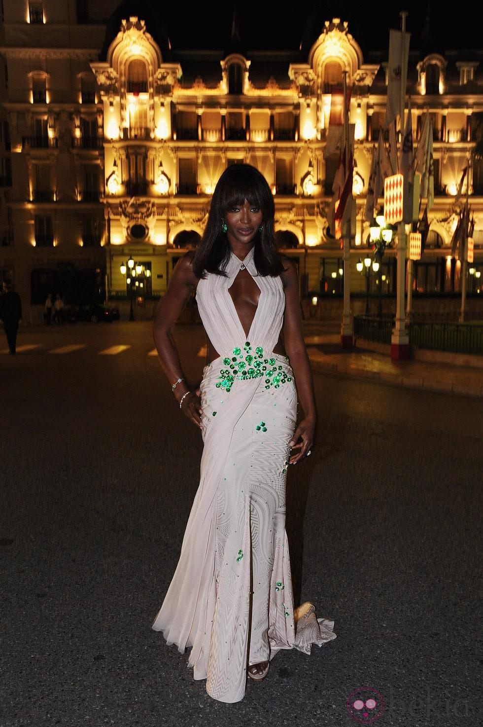 Naomi Campbell en la cena de gala tras la boda real de Mónaco