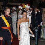 La Princesa Estefanía de Mónaco acude a la cena de gala tras la boda real de Alberto