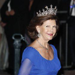 La Reina Silvia de Suecia en la cena tras la boda real en Mónaco